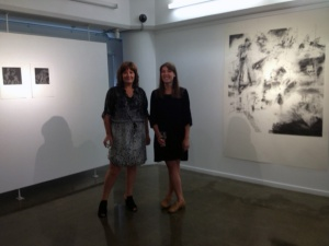 Maria O'Toole and Connah Podmore at the Opening of IN RESPONSE, 12th, March.